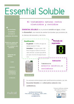 folleto essential soluble