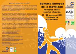 Folleto semana movilidad europea 2014