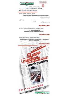 Folleto V Jornadas medios e inmigracion