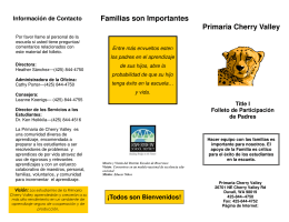 Cherry Valley Title I Family Involvement Brochure Spanish