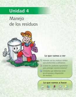 Unidad 4. Manejo de los residuos sólidos