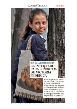 EL INTERNADO PARA SEÑORITAS DE VICTORIA FEDERICA