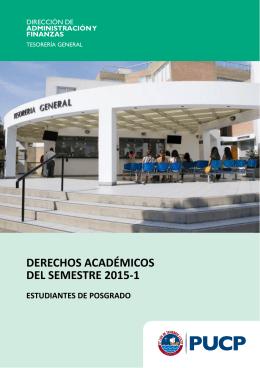 derechos académicos del semestre 2015-1