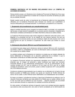 PRIMERA SENTENCIA AP DE MADRID DECLARANDO