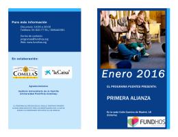 folleto del programa