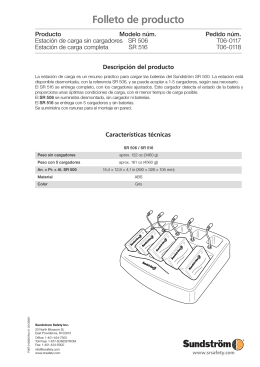 Folleto de producto - Sundström Safety AB