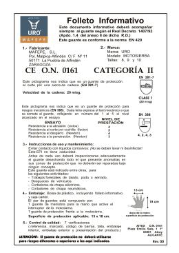 CE O.N. 0161 CATEGORÍA II Folleto Informativo