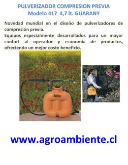 FOLLETO PULVERIZADOR COMPRESION PREVIA Modelo 417 4,7