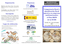 Folleto Workshop Plan BEPS - Universidad Pablo de Olavide