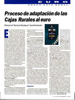 Proceso de adaptación de las Cajas Rurales al euro