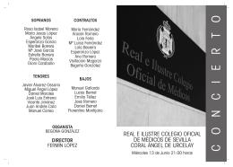 Folleto Calvario.FH11 - Colégio Medico de Sevilla