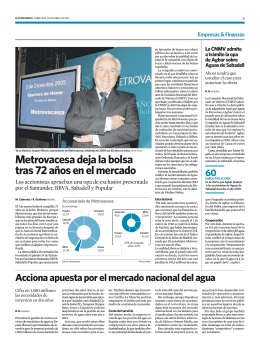 Metrovacesa deja la bolsa tras 72 años en el mercado