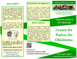 Centro De Padres De Oklahoma - The Oklahoma Parents Center