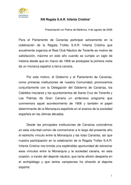 Texto incluido en el folleto de la XIII Regata SAR Infanta Cristina