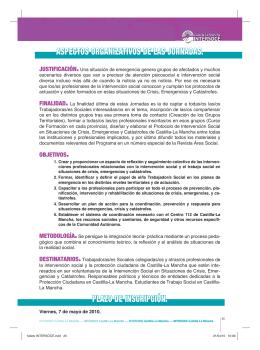 folleto INTERSOCE.indd - Colegio Oficial de Trabajo Social de