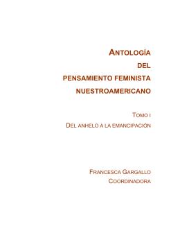 ANTOLOGÍA DEL PENSAMIENTO FEMINISTA