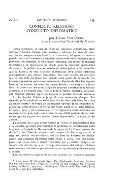FI l-1 149 CONFLICTO RELIGIOSO, CONFLICTO DIPLOMÁTICO
