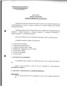 ACTA Nº51 - Ilustre Municipalidad de Antuco