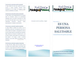 Folleto persona saludable
