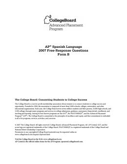 AP® Spanish Language 2007 Free