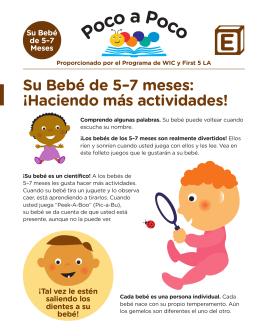 Su Bebé de 5–7 meses: ¡Haciendo más actividades!