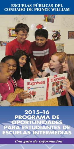 Reuniones informativas - Specialty Programs