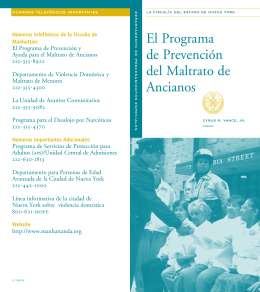 El Programa de Prevención del Maltrato de Ancianos
