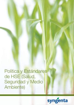 Política y Estándares de HSE (Salud, Seguridad y Medio