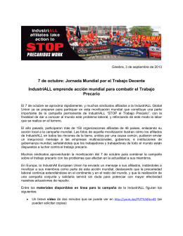 IndustriALL Precarious work action 2013