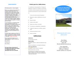 Descripción del curso 2010-2011