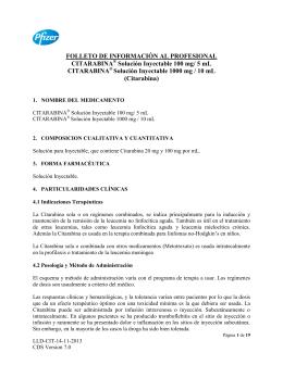 FOLLETO DE INFORMACIÓN AL PROFESIONAL CITARABINA