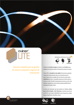Folleto Software Restaurantes Cuiner LITE 54 rev2