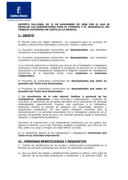FOLLETO 2008 - Gobierno de Castilla