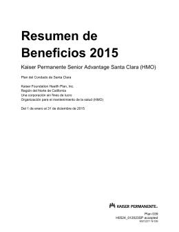 Resumen de Beneficios 2015