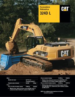 Excavadora Hidráulica 324D L