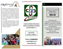 folleto de promoción instituciones