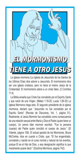 el mormonismo tiene a otro jesus el mormonismo tiene a otro jesus