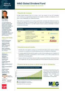 M&G Global Dividend Fund - Ficha de producto