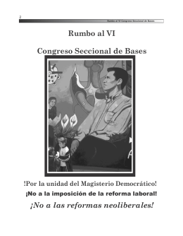 FOLLETO RUMBO AL CES - Frente Nacional de Lucha por el
