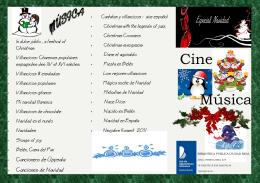 Descargar folleto Cine y Música en Navidad
