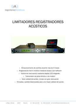 FOLLETO LD500 - INGENIEROS ACUSTICOS