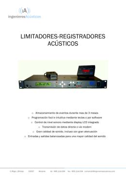 FOLLETO LD500 - INGENIEROS ACUSTICOS