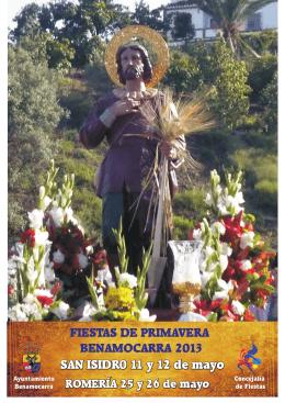 Folleto San Isidro 2013 - Axarquía Costa del Sol