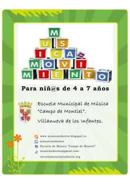 Para niñ@s de 4 a 7 años - Actualidad de Infantes y el Campo de