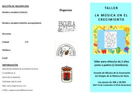 folleto de inscripción - Asociación de Amigos de la Música de