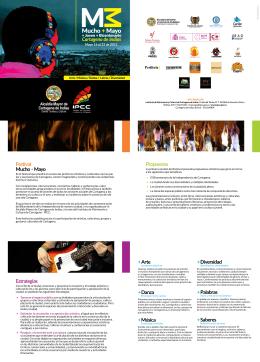 Festival Mucho +Mayo Propuestas Estrategias + Arte + Danza +
