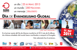 DÍA DE EVANGELISMO GLOBAL