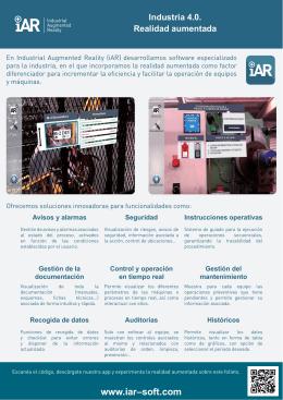 Industria 4.0. Realidad aumentada www.iar–soft.com