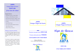 folleto ampa 2015 - Colegio Virgen de Gracia