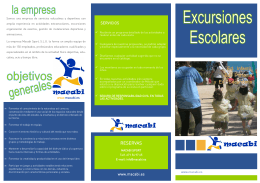 Folleto Excursiones Murcia 14-15